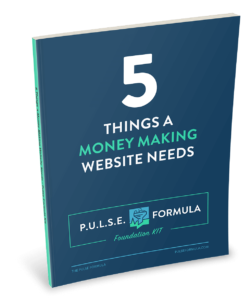 5 things a money making website needs cover